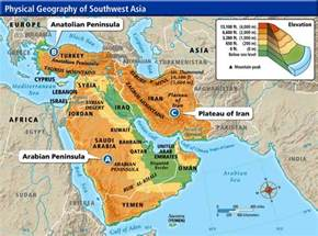 Map Of South West Asia by Pics Photos Central And Southwest Asia Physical Map