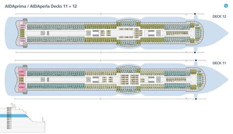 aidaprima deckplan 11 deckspl 228 ne f 252 r aidaprima aida kreuzfahrten