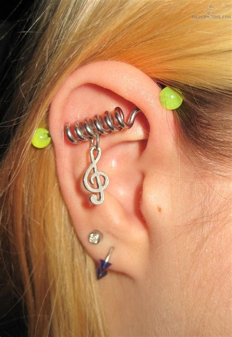 industrial piercing spiral music note fmag com