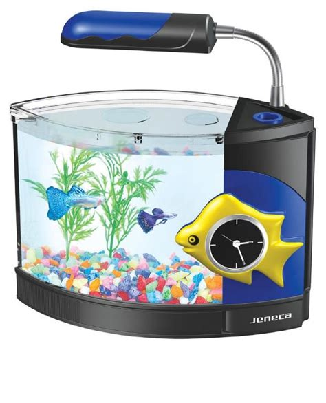 Lu Led Aquarium Mini glass mini fish tank led mini aquarium mini desk fish