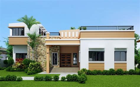 4 story modern house modern house rey four bedroom one storey with roof deck shd 2015021