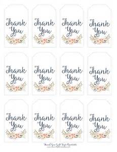 thank you tag template thank you gift tags blooming homestead