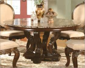 Marble top round dining table in cherry mcfrd0017 6060
