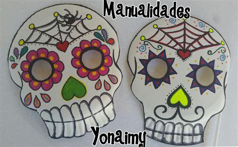 como decorar una calavera de papel con lentejuela manualidades yonaimy