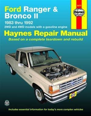 haynes repair manual for ford ranger & bronco li 1983 thru