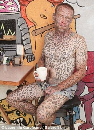 tattoos on women private parts meet the leopard who transformed himself with 1 000