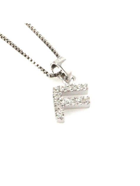 gioielli con lettere collana con lettera f iniziale in argento 925