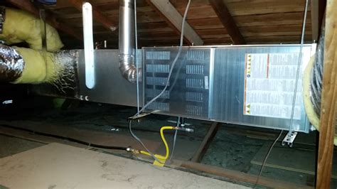 Gas Furnace In Attic Installation In Houston   neoncharter