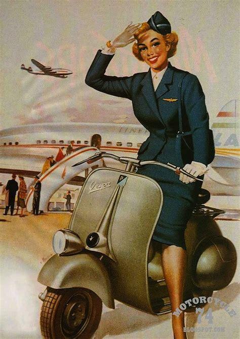 imagenes vintage vespa old school vespa posters mundo flaneur