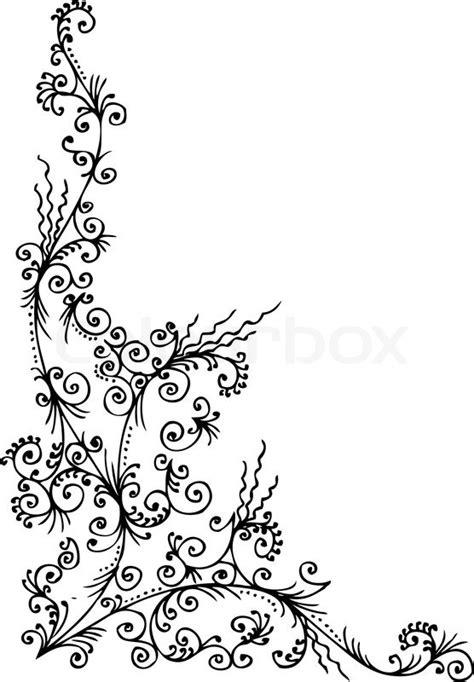 Deckblatt Bewerbung Muster Schwarz Weib Barocke Muster Vignette 96 Eau Forte Schwarz Wei 223 Dekorativen Hintergrund Vektor Illustration