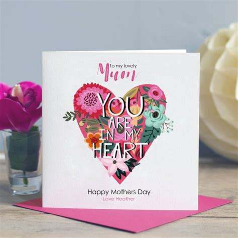 mothers day card best mum by lisa marie designs mum you re in my heart card by lisa marie designs