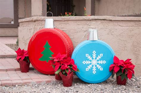 how to make large decorations how to make ornaments from tires