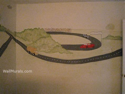 race track wall mural wall murals by colette transportation theme wall murals