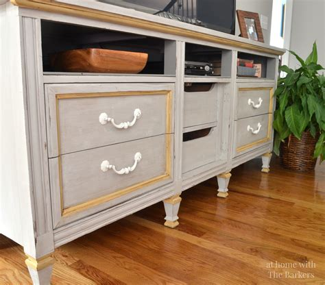 diy tv stand from dresser tv stand makeover at home with the barkers