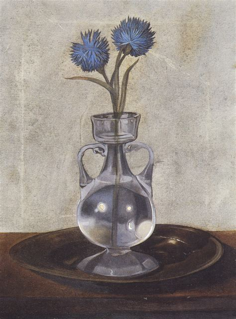 the vase of cornflowers salvador dali wikiart org