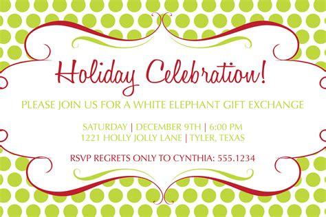 diy printable christmas party invitation white elephant