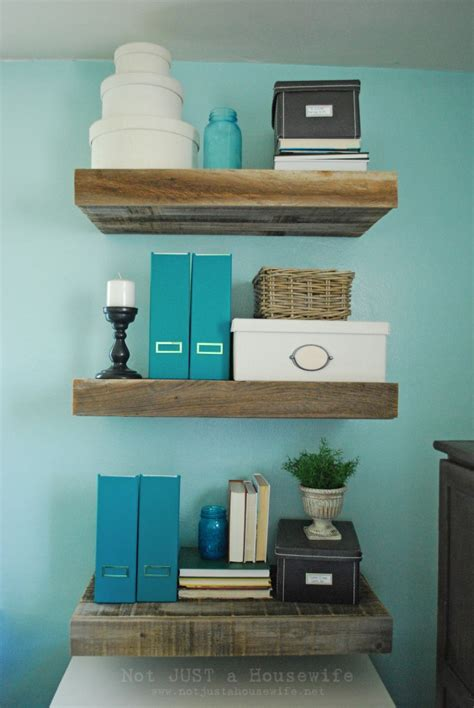 floating shelves with drawers diy reclaimed wood floating shelves not just a housewife