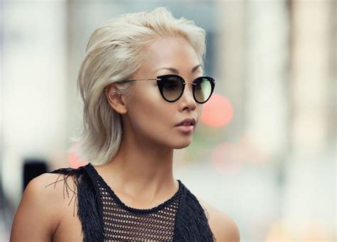 blonde asian hairstyles bloggers whose hair we love vanessa hong the haute