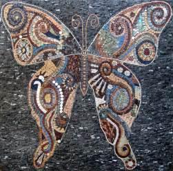mosaic wall murals butterfly marble mosaic tiles stone art wall mural