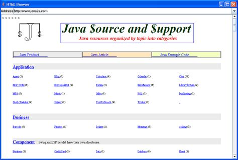 java swing web browser techtrony brower based on jeditorpane