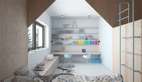 bedroom with study area designs cute kids bedroom design that full of creative feature