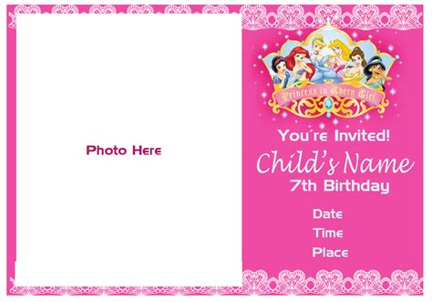 Happy 7th Birthday Card Template by Happy 7th Birthday Invitation Cloudinvitation