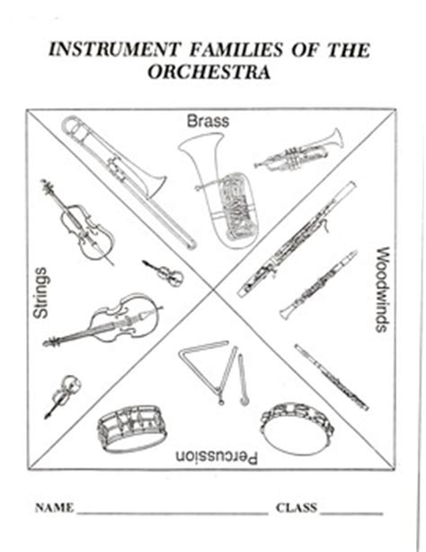 printable music lesson plans instruments of the orchestra instrument families of the orchestra packet by beasons