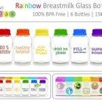 Botol Simpan Asibabypax Rainbow botol kaca simpan asi perah babypax asibayi