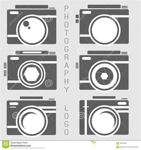 Vector Collection Of Photography Logo Templates Cartoon Vector Cartoondealer Com 82275579 Photography Label Templates