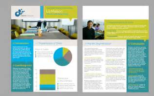 two page brochure template flyer publisher s corner