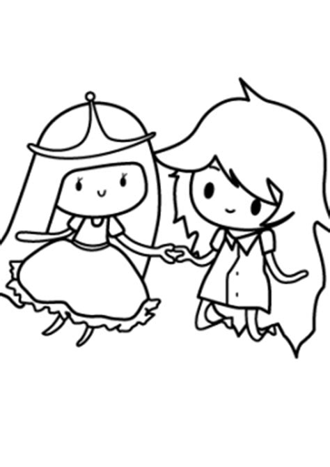 Awesome Princesse Bubblegum And Marceline Coloring Page Bubblegum Club Colouring Pages