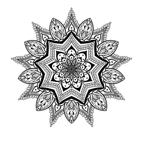 vector ornamental lotus mandala ethnic zentangled henna