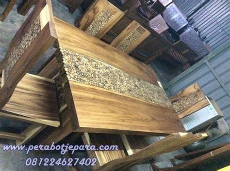 Meja Kayu Jati Solid jual 6 kursi meja makan minimalis kayu jati solid harga