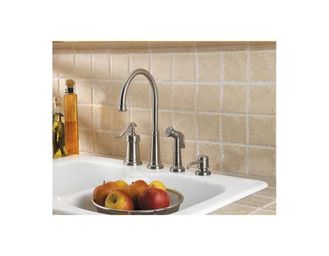 pfister gt26 4ypu ashfield 4 hole kitchen faucet in rustic faucet com gt26 4ypk in brushed nickel by pfister