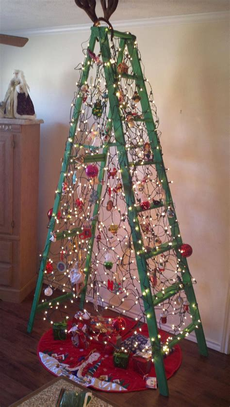 awesome ladder tree christmas ideas pinterest