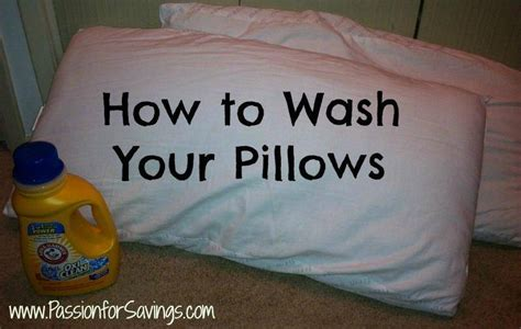 How To Wash Pillows by How To Wash Your Pillows For Savings