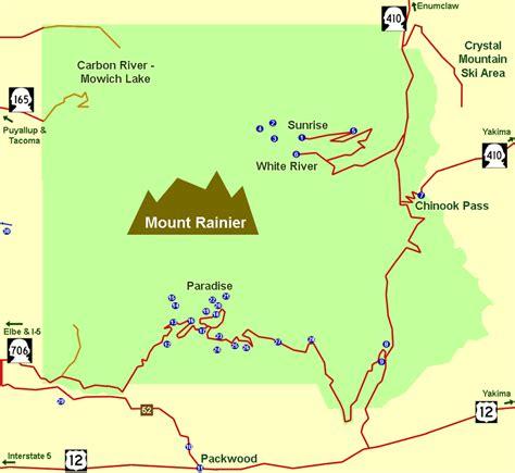 mt rainier national park map gallery mount rainier map