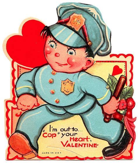 images  vintage valentine cards police