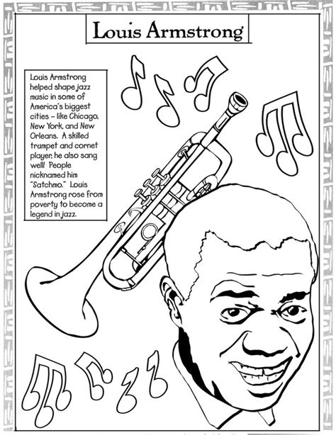 jazz music coloring pages black history month coloring pages black history