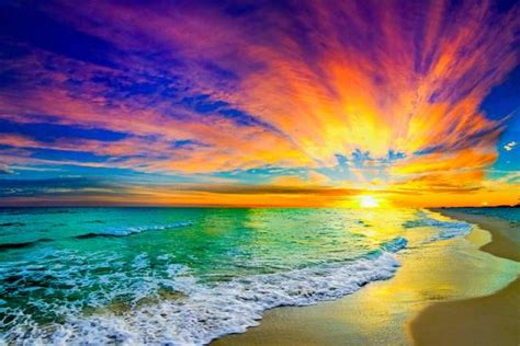 colorful ocean wallpaper ocean sunset paintings colorful orange ocean sunset with