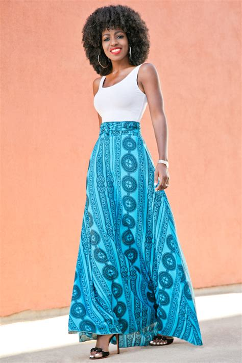 style pantry white tank belted flowy maxi skirt