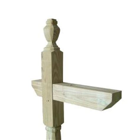home depot painted post 6 ft wood single mailbox post 54268 the home depot