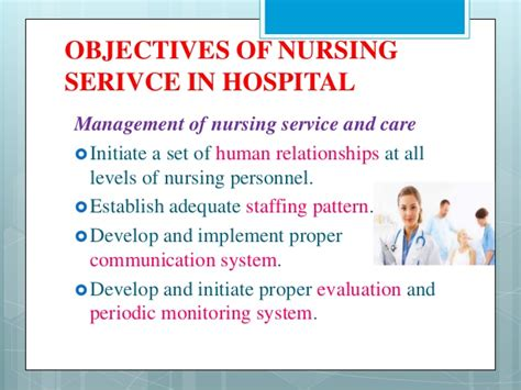 staffing pattern of the organization organizing nursing services