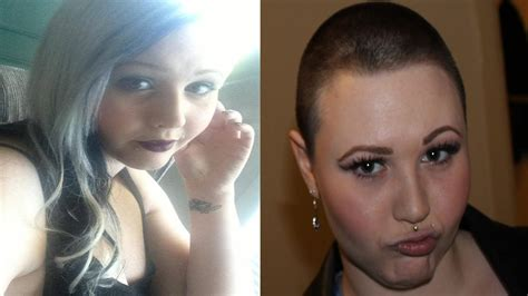 female headshave this month hair growth 3 months after chemo pictures