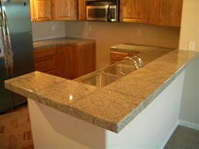Tile Kitchen Countertop Designs by Granite Tile Kitchen Countertop And Bar