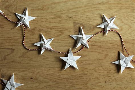 Origami Garland - make an origami garland the crafty gentleman