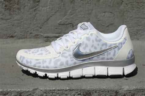 white leopard nike shoes on the hunt