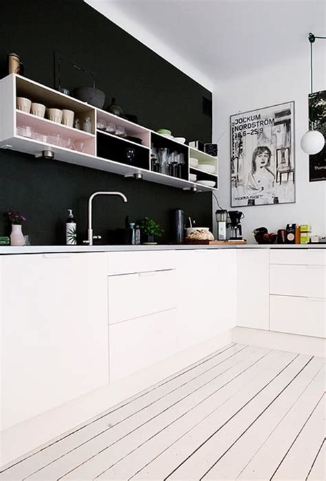 black kitchen walls kitchen with black accent wall for the home pinterest