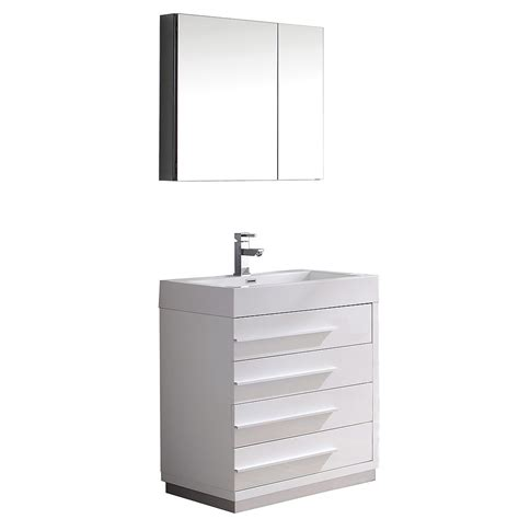 home depot bathroom vanities 30 inch fresca livello 30 inch w vanity in white finish with