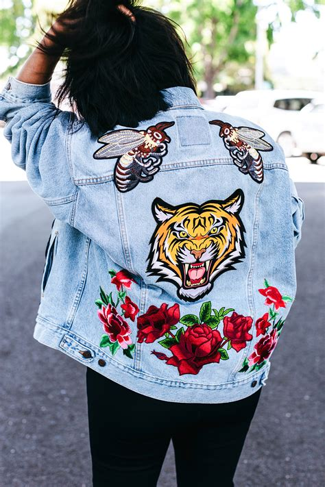 Patchwork Patches - diy embroidered patch denim jacket